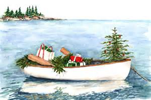 boat full of christmas recipe paintings by brenda erickson