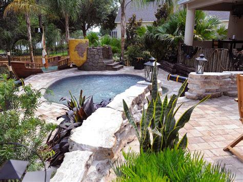 backyard makeover with pool my yard goes disney hgtv