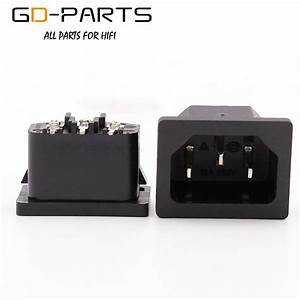 Gd Parts Pcb Mount Ac Power Plug Iec320 C14 Mains Ac Power