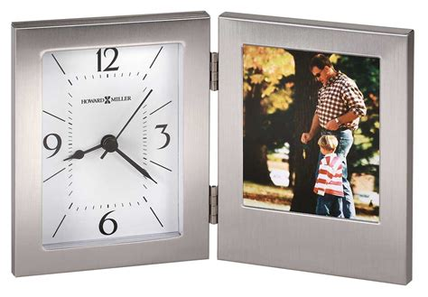 bulova desk clockframe envision picture frame clock by howard miller picture