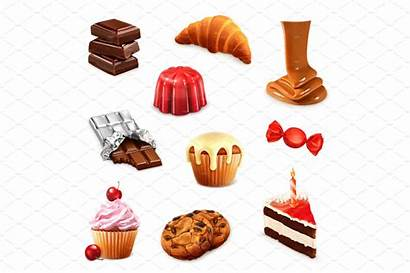 Confectionery Vector Icons Different Macaroons Creativemarket Flavors