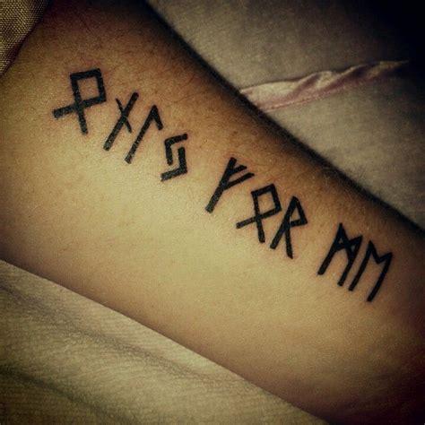 runes tattoo      body mod rune