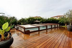 Abri De Terrasse Coulissant : abri piscine bois coulissant ~ Dode.kayakingforconservation.com Idées de Décoration