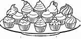 Cupcake Coloring Pages Cakes Cupcakes Plate Drawing Colouring Cup Clipart Malvorlagen Ausmalbilder Cake Zum Ice Cream Ausdrucken Shopkins Zeichnung Ausmalen sketch template