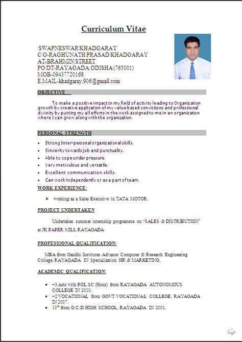 resume sample  word document mbamarketing sales