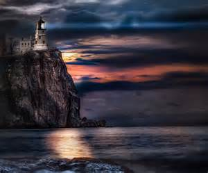 painting a mobile home interior split rock lighthouse with moon rising by
