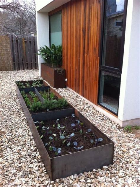 modern garden galvanized raised bed backyard ideas