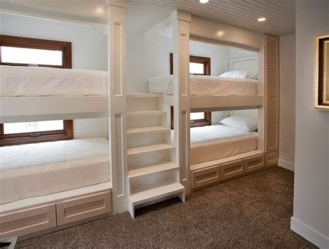 cool bunk bed with stairs in contemporary other metro with