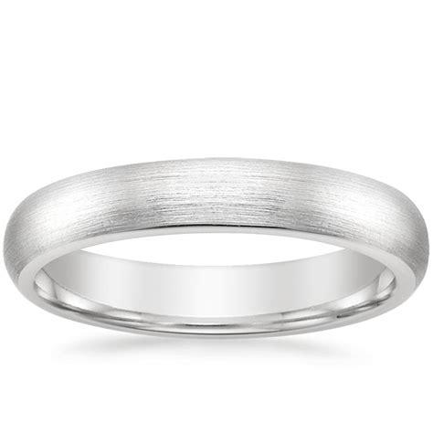 4mm matte comfort fit wedding ring in platinum