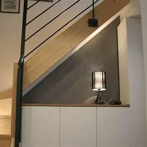 Placard Escalier : placards sous escalier perfect placard coulissant sous escalier with placards sous escalier ~ Carolinahurricanesstore.com Idées de Décoration