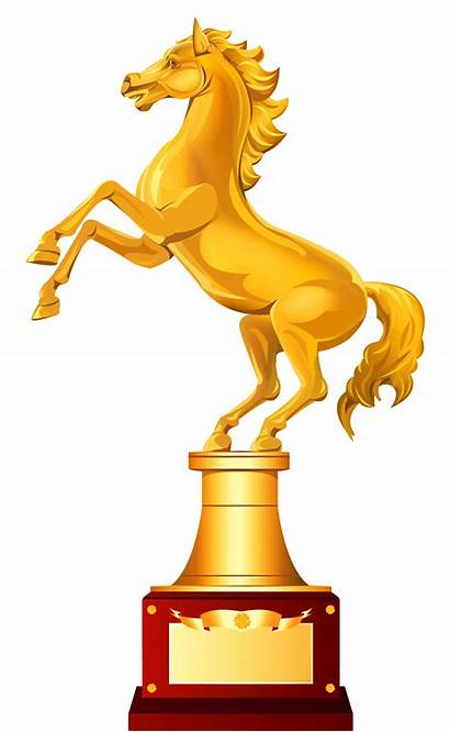 Trophy Horse Golden Clipart Clip Animated Medals