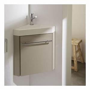 Lave Main Pour Wc : meuble lave mains d 39 angle couleur daim pour wc ~ Premium-room.com Idées de Décoration
