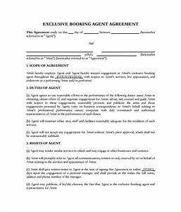 artist agent agreement template 11 booking agent contract With dj booking contract template