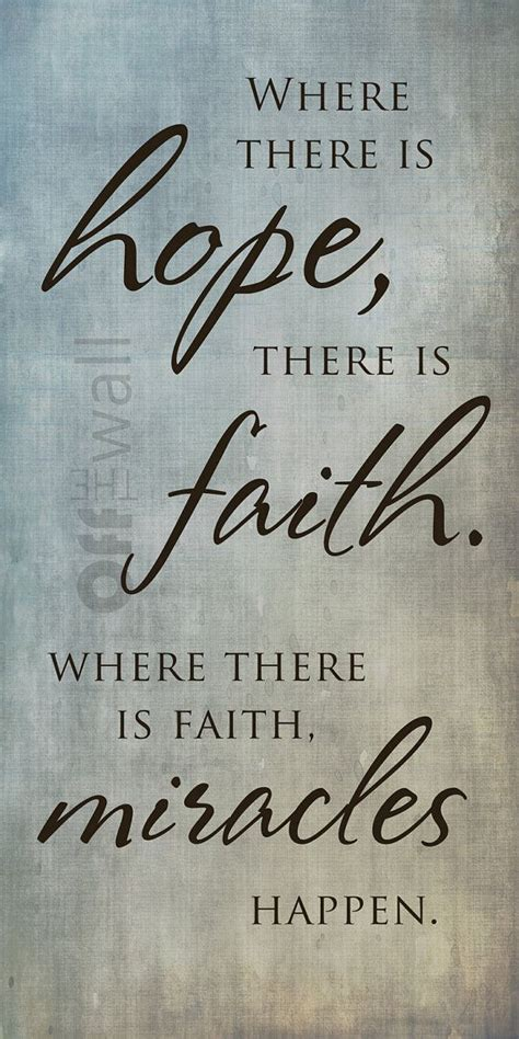 hope   faith    faith