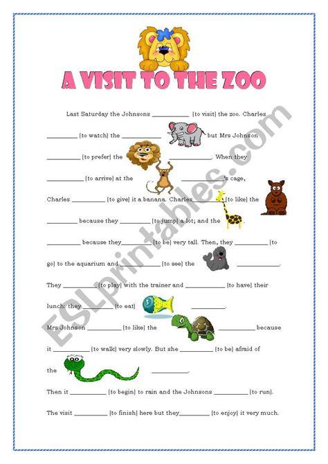 zoo visit worksheet esl preview