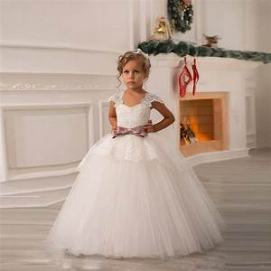 cheap white flower girls dresses for wedding gowns cap With girls dresses for weddings