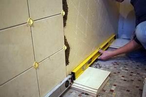 pose d39un carrelage mural la preparation pratiquefr With poser du carrelage mural