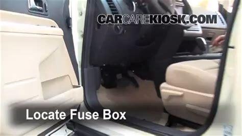 interior fuse box location   ford edge