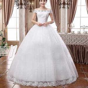 white bridal slash neck solid lace floor length ball gown With what wedding dress should i wear