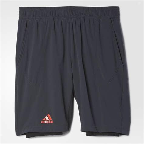 adidas mens adizero bermuda shorts dark greyblack