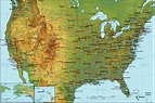 Map of United States and Vicinity - Tabloid Size