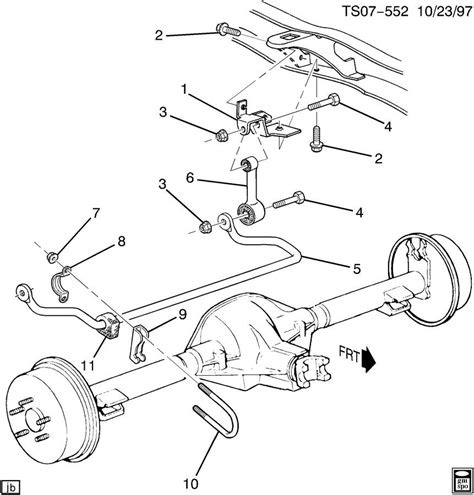front suspension diagram chevy trailblazer trailblazer