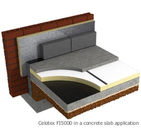 concrete floor insulation products 125mm celotex fi5000 underfloor heating insulation board