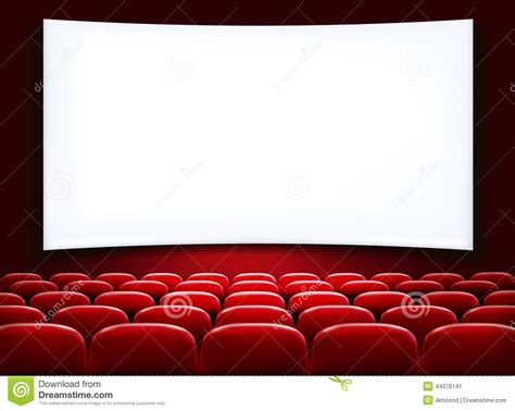 Rows Of Red Cinema Or Theater Seats Stock Vector - Image