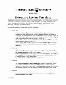 literature review template30564 With lit review template