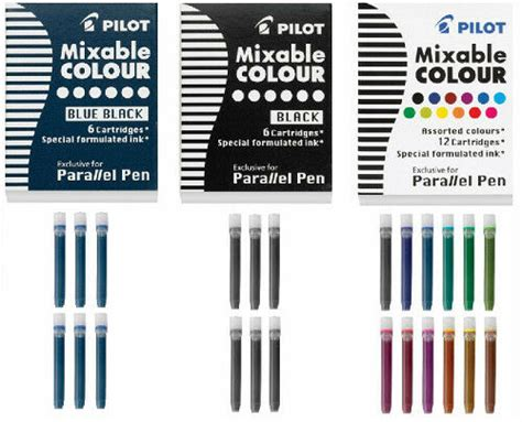 pilot parallel  refill ink cartridges calligraphy