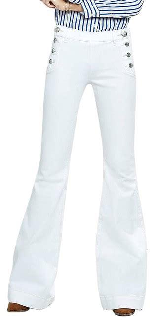 express white flare leg jeans size  xl   tradesy