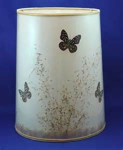 1255 large van briggle butterfly lamp shade lot 1255
