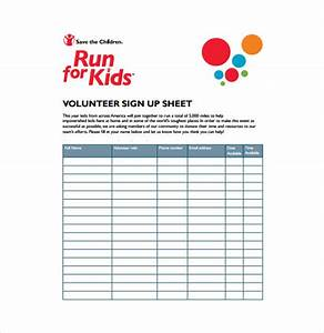 19 sign up sheet templates free sample example format With volunteer sign up form template