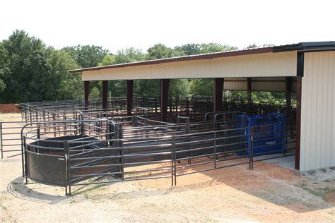 cattle priefert designs barn beef system sweep corrals horse straight panel ranch operation barns herd fence sheeted farm proven variety