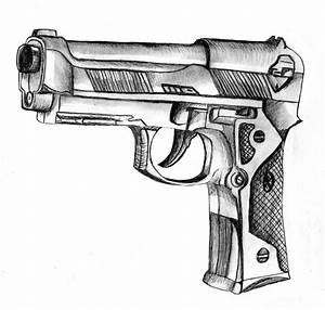 Cool Drawings Of Guns | gun sketch by CcHIKAA on ...