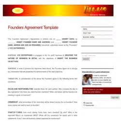 founders agreement template milguad pearltrees