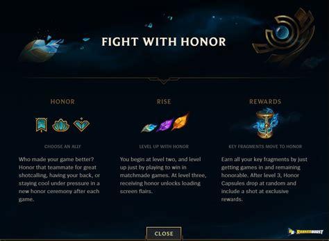 league  legend honor rewards lol season  honor update