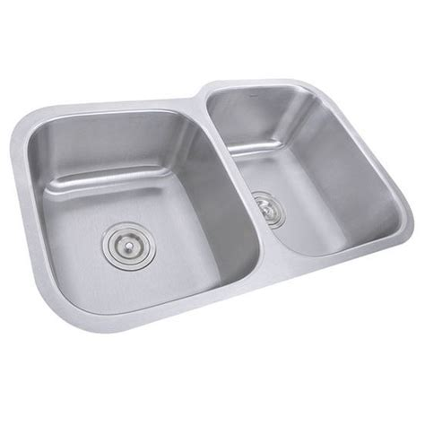 kitchen sink with cabinet nantucket sinks 16 or 18 60 40 bowl stainless 6040