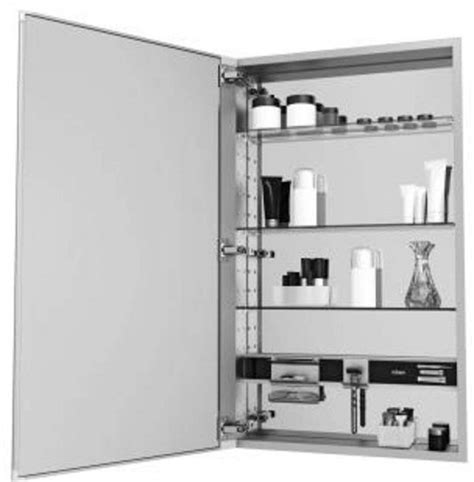Robern M Series by Robern Mc2440d4fple4 M Series Cabinet Flat In Plain Edge