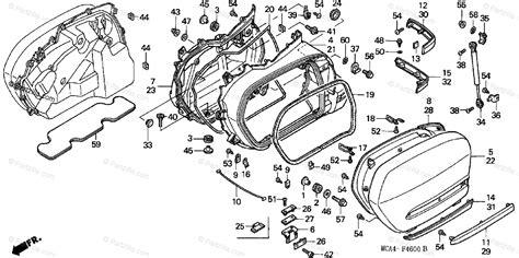 Honda Motorcycle Oem Parts Diagram For Saddlebag