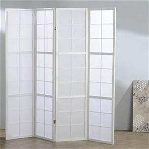 Paravent Japonais Ikea : paravent blanc achat vente paravent blanc pas cher cdiscount ~ Teatrodelosmanantiales.com Idées de Décoration