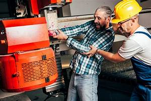 Worker Caught In The Machine And Seriously Injured Stock Image