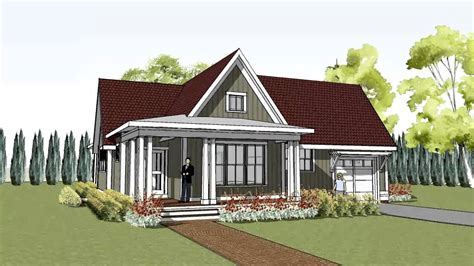 Simple Yet Unique Cottage House Plan With Wrap Around