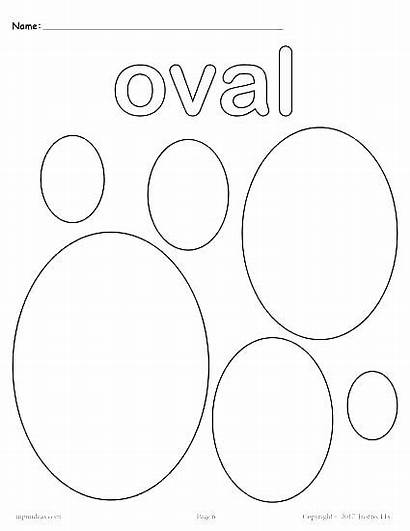 Coloring Shape Shapes Pages Oval Diamond Printable
