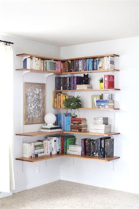 wall mounted shelving systems   diy living room