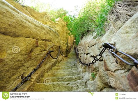 Thousands Steps Mount Hua Royalty Free Stock Image