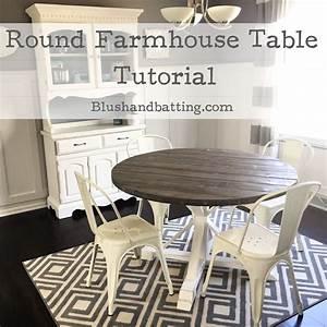 Round, Farmhouse, Table, Tutorial-, Blush, And, Batting, Blog