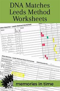 Genealogy Worksheets Sorting Your Dna Matches With The Leeds Method Part 1