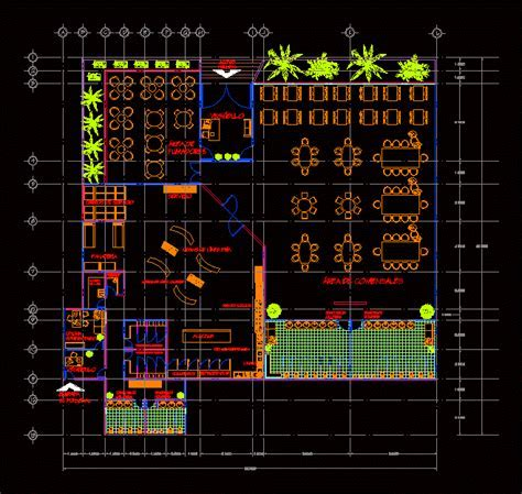 Industrial Kitchen Restaurant Type DWG Block for AutoCAD