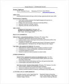 resume template editor resume for copy editor